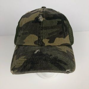 NWT MUDD Women's Camo Hat One Size Adj. Closure